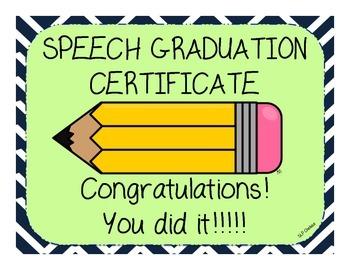 Speech/Language Certificates FREEBIE