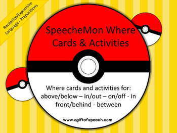 SpeecheMon Where Cards and Pages