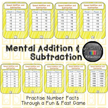 Speed Addition and Subtraction