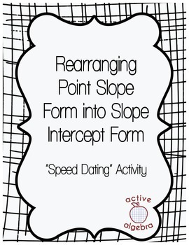 Speed Dating Activity: Rearranging Point Slope Form to Slo