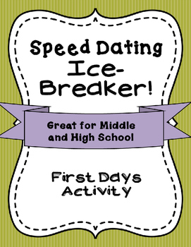 Speed Dating First Days Activity - Ice Breaker