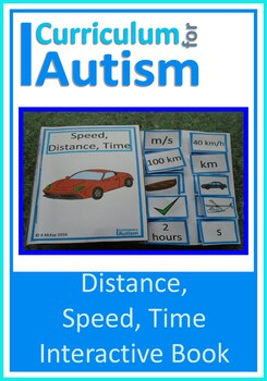 Speed, Distance, Time Interactive Adapted Math Science Boo