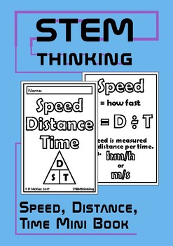 Speed Distance Time Mini Foldable Math and Physics Book