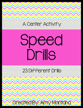 Speed Drills {Fluency Practice or Center Activity}