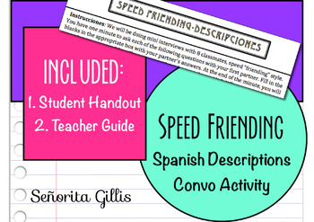 Speed Friending-Descriptions (Basic/Novice Spanish Convers