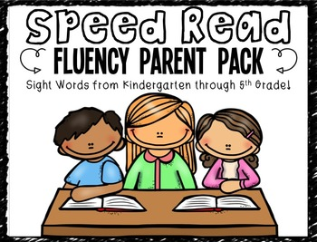 Speed Read Fluency Parent Pack!