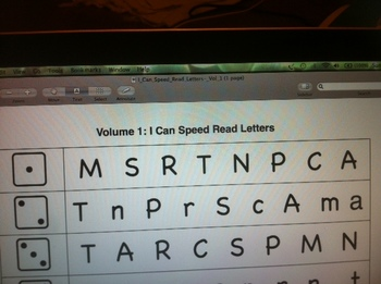 Speed Read Letters in order as presented in StoryTown