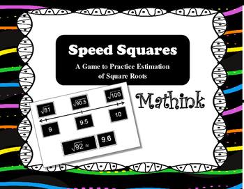 Speed Squares: Estimating Square Roots Game