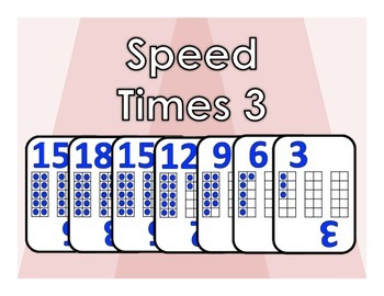 Speed Times 3 - Multiples of 3 Card Game
