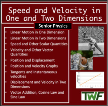 Speed and Velocity in One and Two Dimensions - Physics Pow