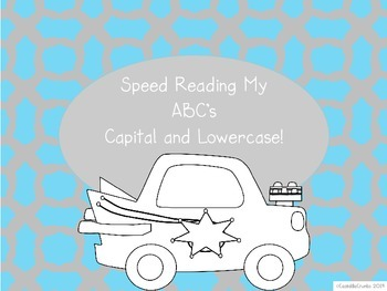 Speed Reading My ABC's Center with Dice Great for Kinderga