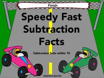 Speedy Fast Subtraction Facts Within 10