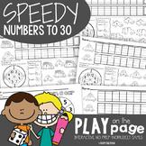 Numbers to 30 - Speedy Game Worksheets - No Prep