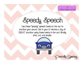 Speedy Speech: Car/To Go Activities for /r/