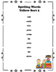 Spelling Lists for Yellow Word Sorts 1-50