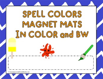 Spell Color and BW Magnet Mats ALL UPPERCASE