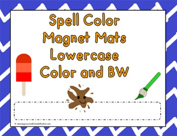 Spell Colors Magnet Mats Lowercase Color and BW