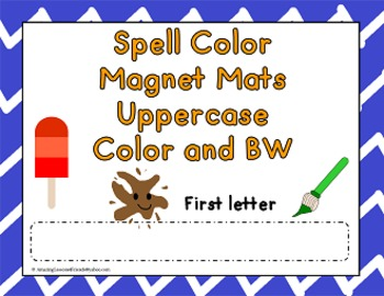 Spell Colors Magnet Mats Uppercase First letter