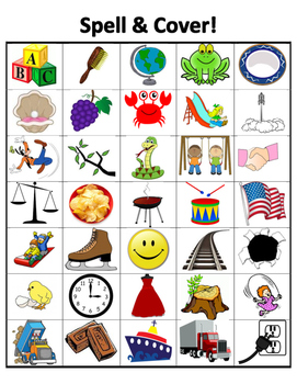 Spell & Cover (blends, digraphs)