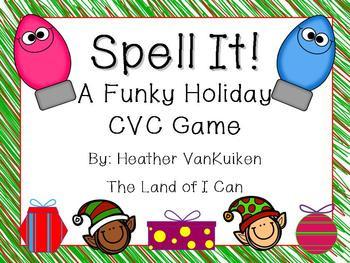 Spell It! A Funky Holiday CVC Spelling Game