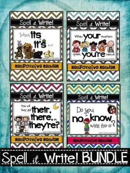 Spell It Write!  Homophones BUNDLE Responsive Readers