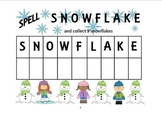 Spell Snowflake Math & Literacy  Lesson Plan Activity