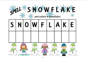 Spell Snowflake Math & Literacy  Lesson Plan Activity