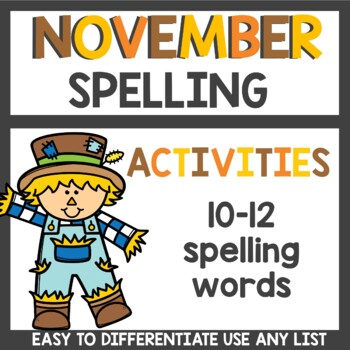 Spelling Homework for November