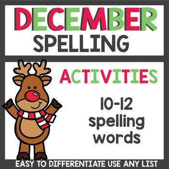 Spelling Homework for December