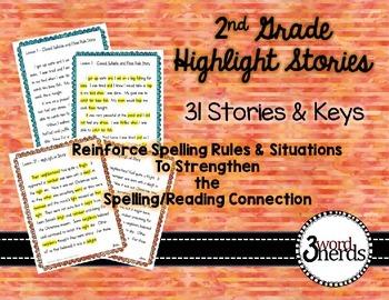 Spelling - 2nd grade Highlight Stories