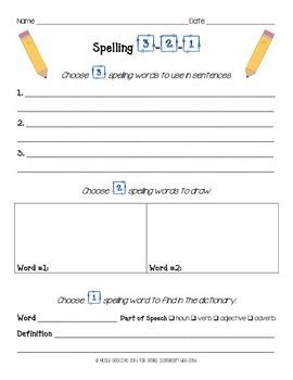 Spelling 3-2-1