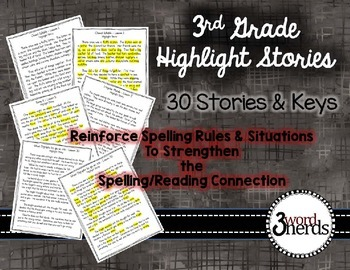 Spelling - 3rd Grade Highlight Stories