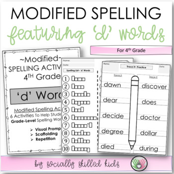 "Spelling: 4th Grade Modified (""d"" Words)"