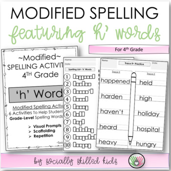 """Spelling: 4th Grade Modified (""""h"""" Words)"""