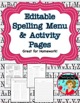 Spelling Practice Activities and Homework $ Dollar Deal $