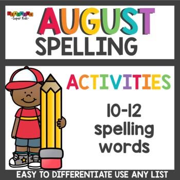 Spelling Worksheets for August