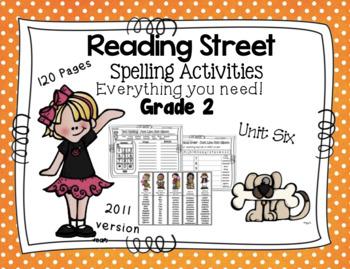 Spelling Activities Reading Street - Grade 2 Unit Six Vers
