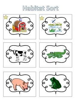 Spelling Activities Words Their Way Concept Sort Habitats