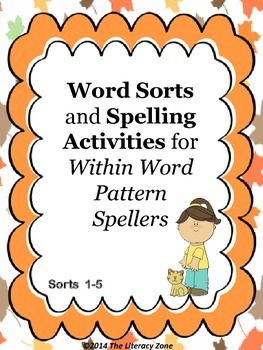 Spelling Activities for Words Their Way
