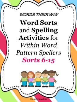 Spelling Activities for Words Their Way Sorts 6-15