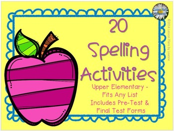 Spelling Activities (upper elementary) for Any List