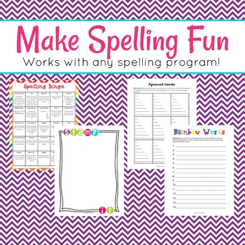 Spelling Activity Pages