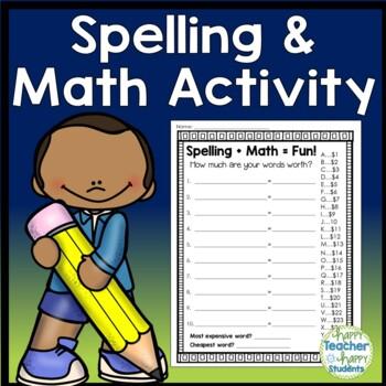 Spelling Activity - Spelling Math