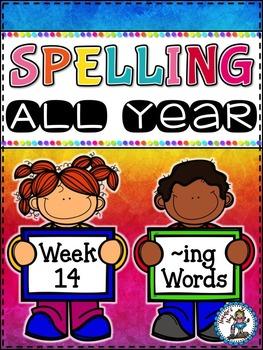 Spelling All Year {Week 14 - ~ing Word}