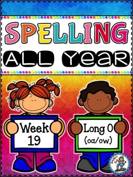 Spelling All Year {Week 19 - Long o (oa/ow) Words}