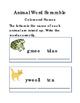 Spelling Animal Word Scramble Reading Journal Writing Jour