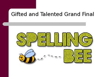 Spelling Bee - Grand Final