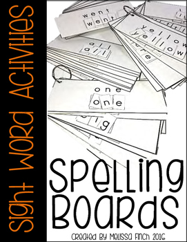 Spelling Board Sight Word Activities- For Special Education