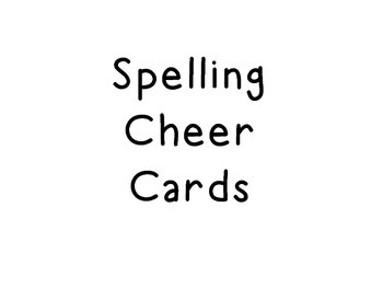 Spelling Cheer Cards