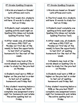 Spelling City Homework  Summary
